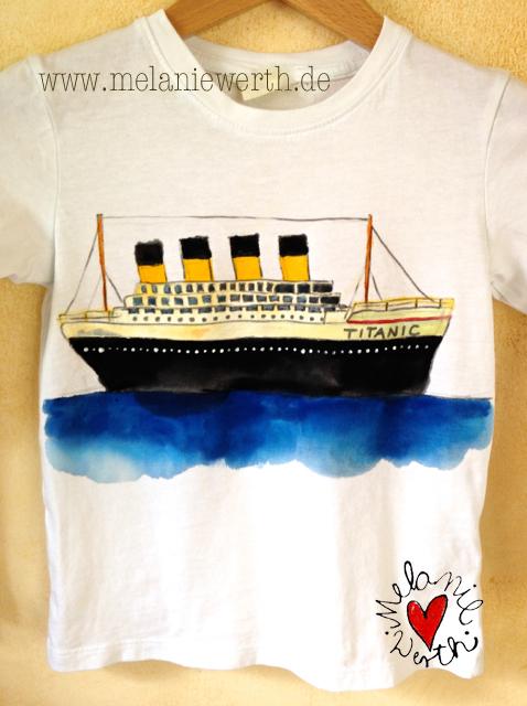 Titanic Shirt, Titanic Kissenbezug, Titanic für Kinder, Titanic gemalt, Titanic für Jungs