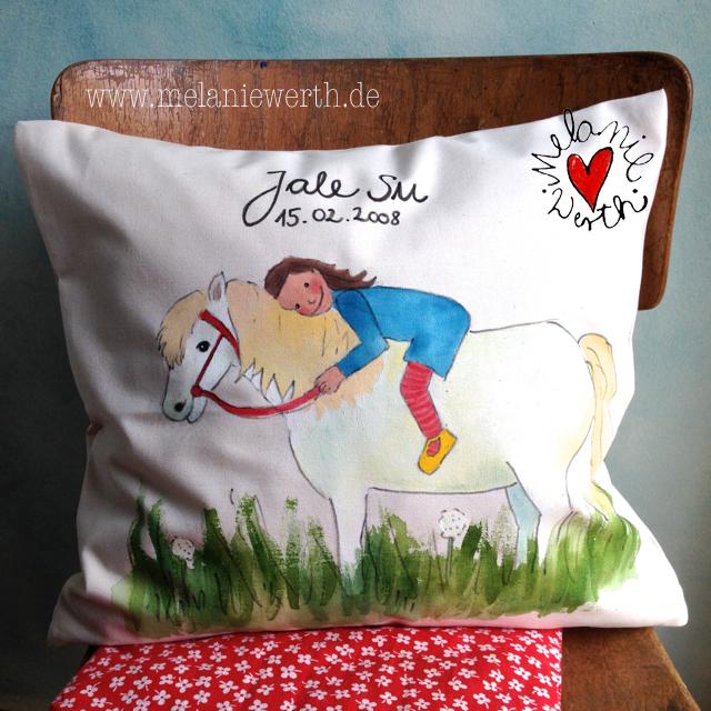 Geschenk mit Pony, personalisiertes Geschenk Kindergartenkind