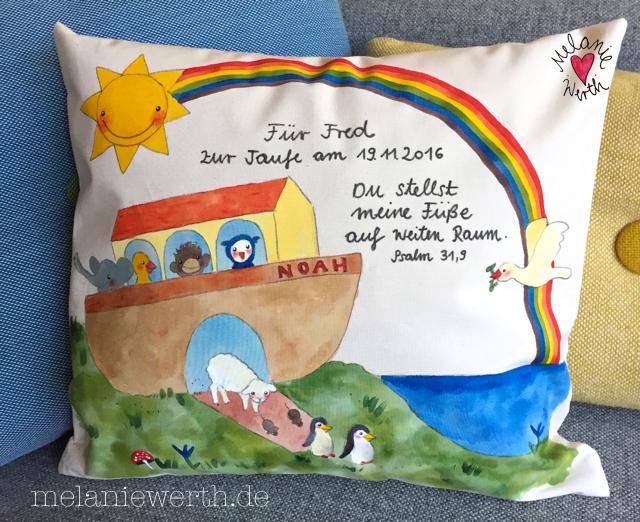 Geschenk Taufe Patenkind, Geschenk mit Arche Noah, Arche Noah für Kinder, Arche Noah fürs Kinderzimmer, Kinderbild Arche Noah, Kinderzimmerbild Arche Noah, Geschenk Taufe mit Taufspruch, du stellst meine Füße auf weiten räum, Psalm 31 Vers 9