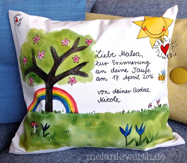 Geschenk Taufe, Geschenk mit Lebensbaum, Taufkerze Motiv Lebensbaum, Frühling, Lebensbaum Kirsche,