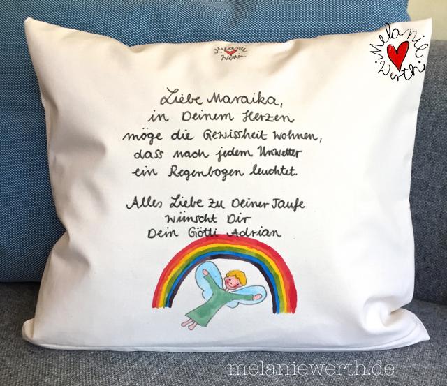 Irischer Segensspruch,Kuschelkissen Taufe, Geschenk Patenkind, Geschenk mit Taufspruch, Malerei Taufe,