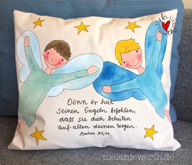 Zwei Engel Jungs Malerei Für Kleine