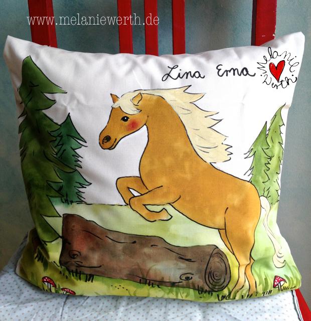 Geschenk mit Pony, Kissenbezug mit Pony, Geschenk Mädchen mit Pony, Geschenk Shetlandpony, Geschenk mit Geburtsdatum, Geschenk mit Namen, Geschenk Enkel mit Pony, Geschenk Patenkind mit Pony