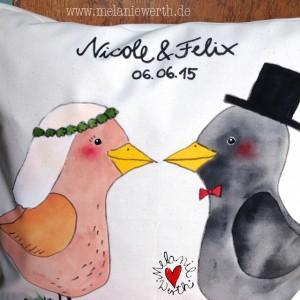 Geschenk zur Hochzeit, Geschenk zur Vermählung, Geschenk zur Trauung, Geschenk für Verliebte, Geschenk Vogelhochzeit