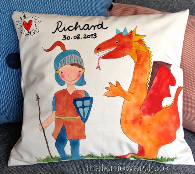 Ritter und Drache, personalisiertes Geschenk zur Geburt Junge
