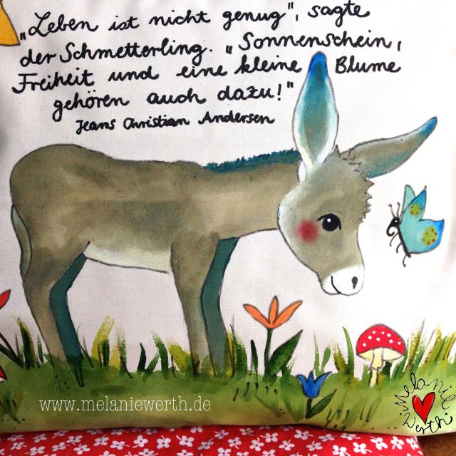 Geschenk Geburtstag mit Esel, Eselbaby, Eselfohlen, Geschenk mit Esel, Shirt mit Esel, Kissenbezug mit Esel