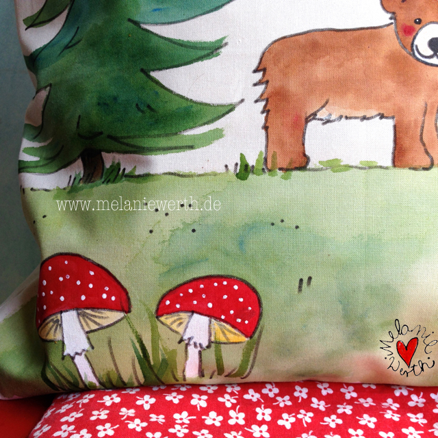 individuelles Geschenk Geburt, Geschenk mit Bär, Geschenk Geburt mit Bär, Geschenk für Anton, Kuschelkissen Geburt