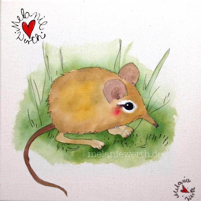 Kinderzimmerbild, Leinwand für Kinder, Malerei für Kinder, Bild mit Maus für Kinder, Bild fürs Kinderzimmer