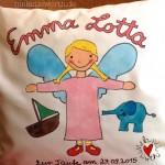 Geschenk für Emma, Geschenk für Lotta, Geschenk Taufe mit Engel, Geschenk Patenkind mit Engel, Geschenk Mit Taufdatum, Geschenk mit Taufspruch, Geschenk mit Elefant