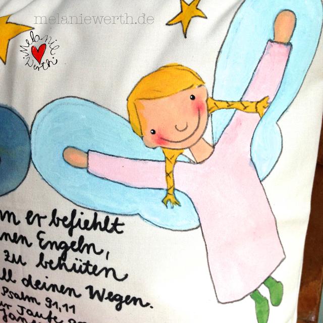 Psalm 91 Vers 11, Denn er befiehlt seinen Engeln dich zu behüten auf all deinen Wegen, Geschenk zur Taufe mit Engeln, Geschenk Taufe Mädchen, Mädchen Engel, weibliche Engel, Engel in rosa, Schutzengel für Mädchen