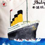 Kissenbezug mit Titanic, Geschenk mit Titanic, Titanic für kleinen Jungen, Titanic Geschenk