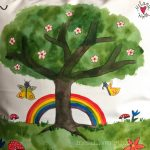 Geschenk mit Lebensbaum, Geschenk Taufe Lebensbaum, Geschenk Patenkind Lebensbaum, Geschenk Taufspruch Lebensbaum