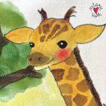 Geschenk mit Giraffe, Geschenk mit Giraffen, Geburt Giraffe, Geschenk Geburt, Geschenk Taufe, Geschenk Patenkind, Geschenk von der Patentante, Geschenk vom Patenonkel, Geschenk mit Taufspruch, Geschenk zur Taufe individuell