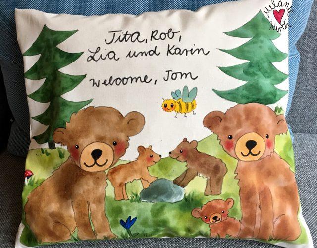 Bärenfamilie Malerei Für Kleine