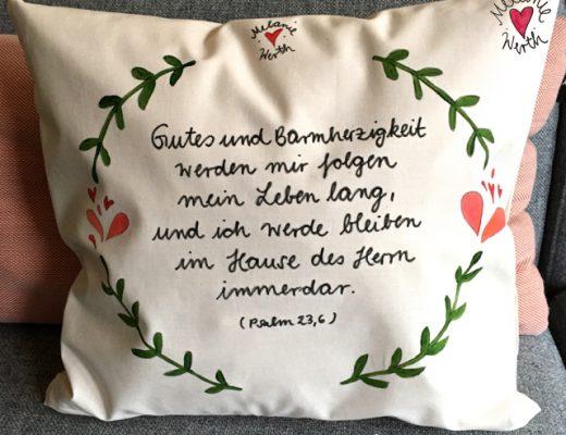 Psalm 23 Vers 6, Gutes und Barmherzigkeit werden mir folgen mein Leben lang und ich werde bleiben im Hause des Herrn immerdar, Geschenk zur Taufe, Geschenk Patenkind, Geschenk Patentante, Geschenk Patenonkel, Geschenk mit Taufspruch, Geschenk Täufling