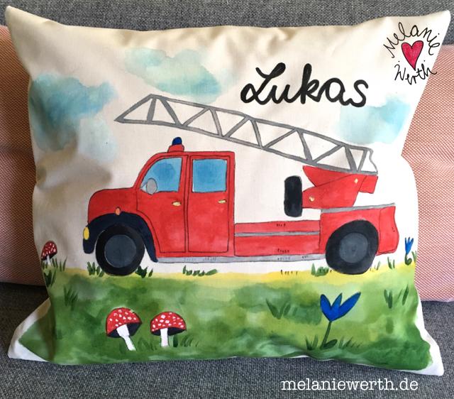 personalisiertes Geschenk kleiner Junge, Feuerwehr