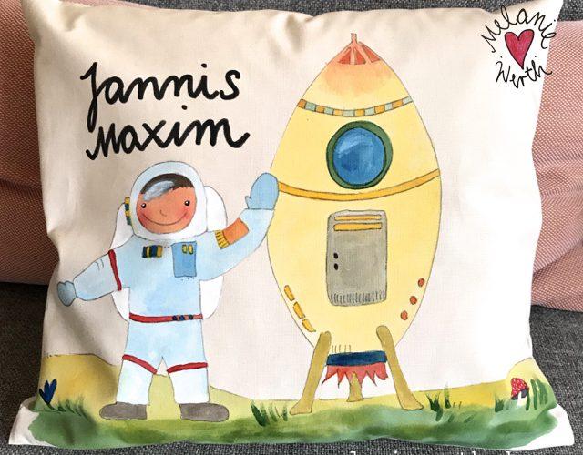 personalisiertes Geschenk Kleiner Junge, Rakete mit Astronaut