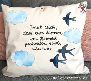 freut euch dass eure Namen im Himmel geschrieben sind, Geschenk taufe, Geschenk Patenkind, individuelles Geschenk taufe