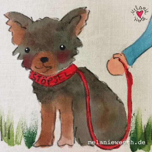 Kissenbezug mit Hund, ilovemydog, lebenmithund, Hundeportrait, Kissen mit Hund, Mischling, Yorkshire Terrier portrait, Bild mit Hund, Geschenk mit Hund, Geschenk für den Hund, für Hundebesitzer