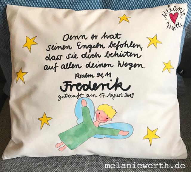 Schutzengel Mit Sternen Geschenk Zur Taufe Illustration