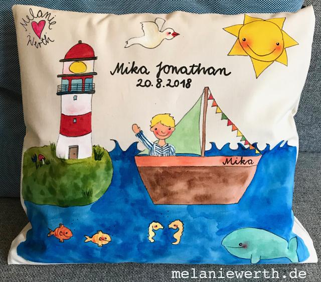 maritimes Geschenk zur Geburt kleiner Junge
