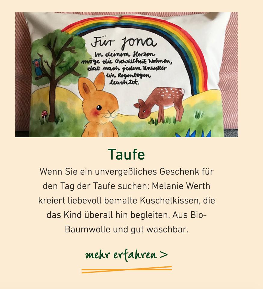 Tipp für ein Geschenk zur Taufe auf Villa-orange.de