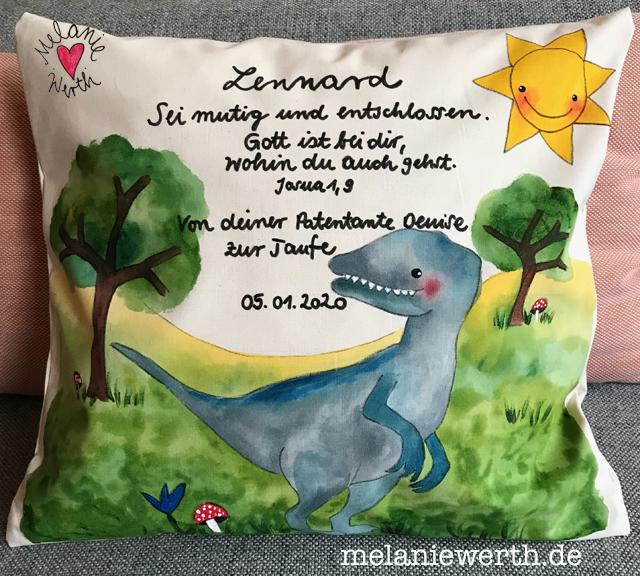 Kissen Zur Taufe Melaniewerthde Malerei Für Kleine
