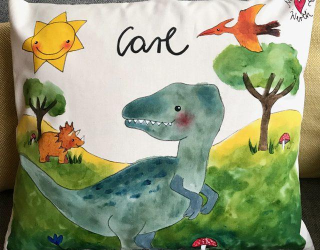 personalisiertes Geschenk kleiner Junge, Dinosaurier