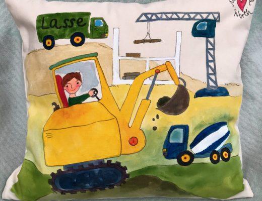 personalisiertes Geschenk kleiner Junge, Baustelle