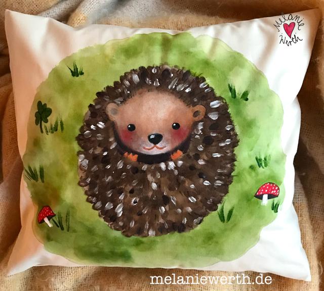 kleiner Igel, Kinderkissen, Kissen zur Geburt, Igelkissen, Kissen mit Namen, Kissen Geschenk Kind