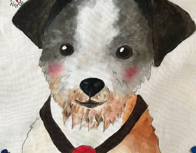 Erinnerung an verstorbenen Hund, Herzenshund Kissenbezug