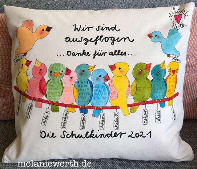 Abschiedsgeschenk Kindergarten, viele Vögel
